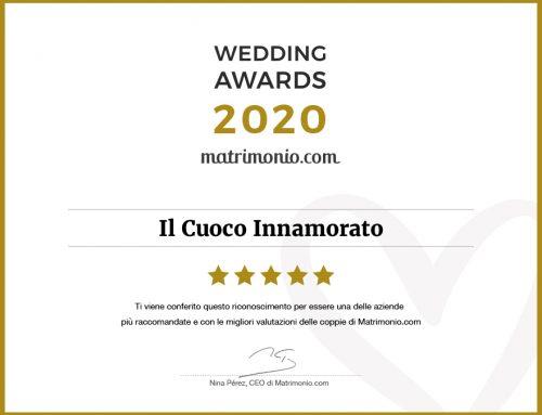 Il Cuoco Innamorato ottiene il Wedding Awards 2020